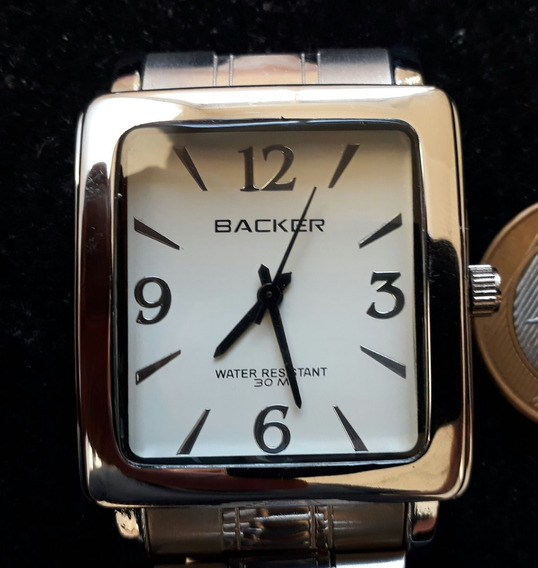 Relógio Backer 1494123 Caixa Aço Prova Dagua