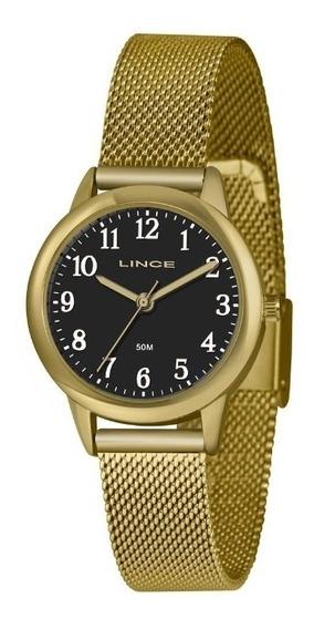 Relógio Lince Feminino Lrg4653l P2kx Casual Dourado