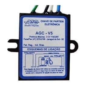 Chave De Partida Eletrônica Agc-v5 3 Cv 127/220v