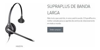 Headset Plantronics Hw251n Supraplus Wideband Mono Rj9