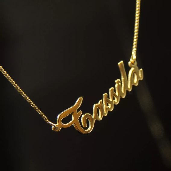 Nome Personalizado Em Ouro 18k