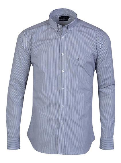 Camisa Hombre Algodón Poplin Regular Fit Sport Brooksfield