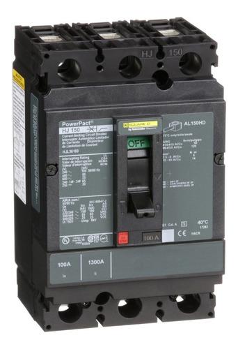 Imagen 1 de 1 de Interruptor Termomagnético 3p 100a Schneider Hjl36100
