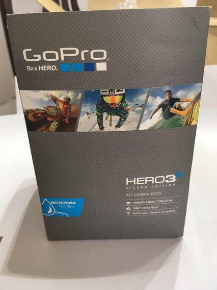 Gopro Hero 3 + Silver Com Controle, Acessórios E Cartãosy