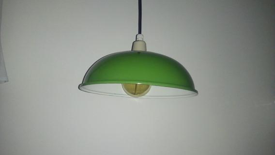 Luminária Pendente Antiga Industrial, Esmaltada Original