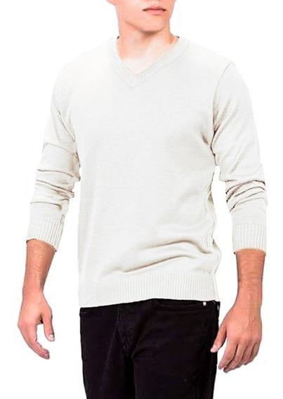Suéter Masculino Branco Tricô Inverno Blusão Masculino