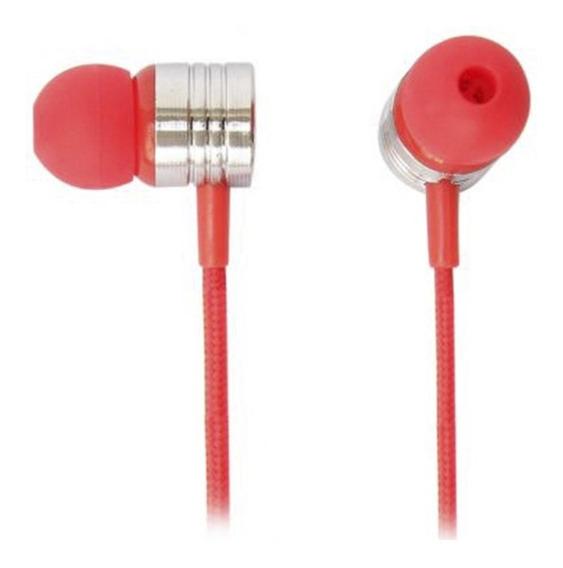 Fone De Ouvido Earphone Com Microfone Maxprint Neon Vermelho
