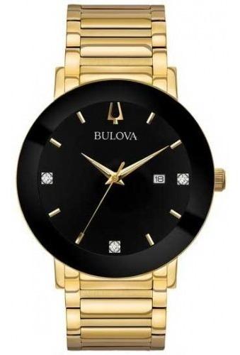 Relógio Bulova Social Dourado Original 97d116 Nfe Garantia