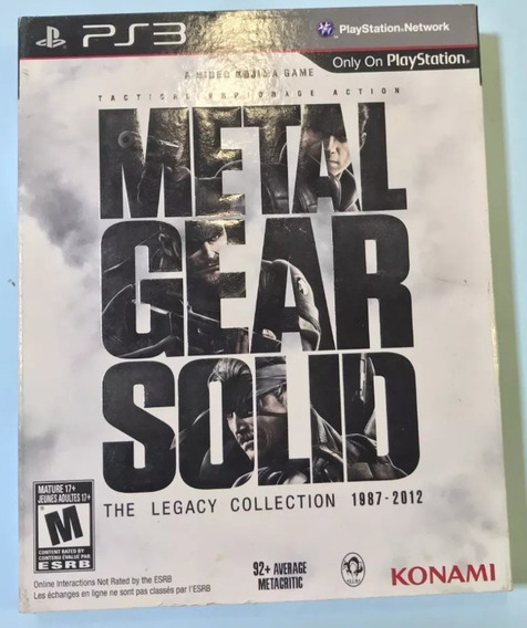 Metal Gear Solid Legacy Com Artbook - Playstation 3 Americano