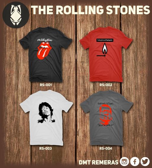 Remeras Rolling Stones - Estampadas Con Vinilo Importado