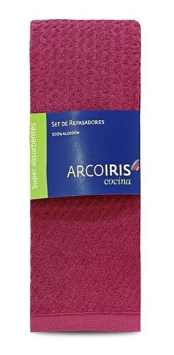 Repasadores Arcoiris Mint Colores 100% Algodon Pack X 2 G&d