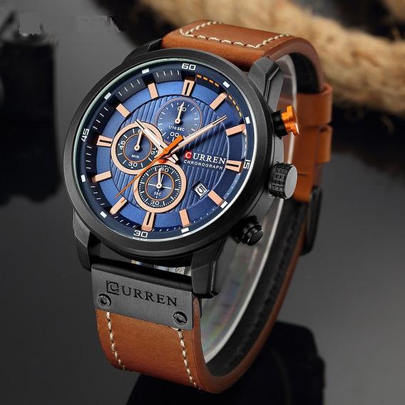 Relógio Curren Luxo Original Com Garantia