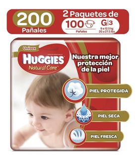 Pañales Huggies Natural Care Unise - Unidad a $738