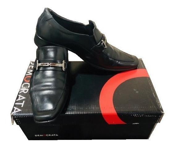 Sapato Democrata Denver Couro Preto 450049-001 Tam 39