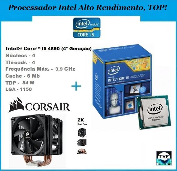Kit Gamer Processador Intel I5 4690 + Cooler Corsair A70