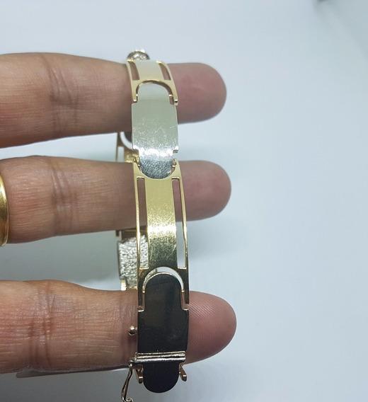 Bracelete Masculino Em Ouro 18k 25,50 Gramas 19cm