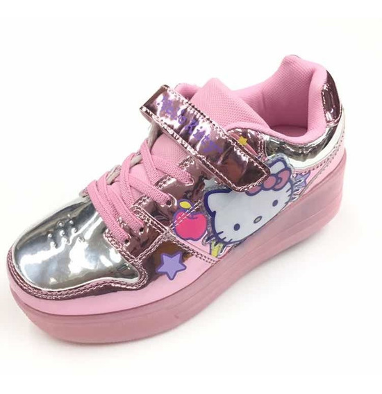 Tenis Patin Luces Hello Kitty Originales ¡envío Gratis!
