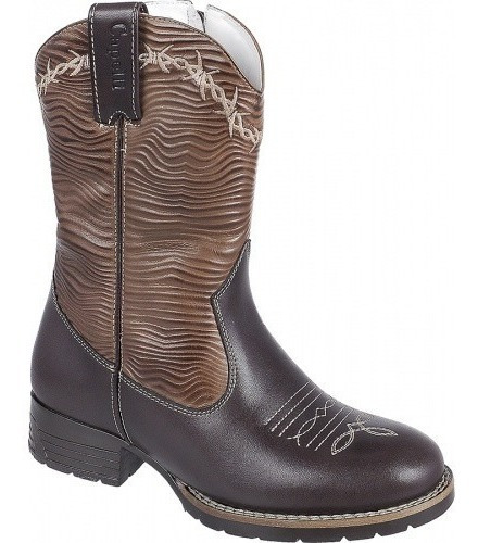 Bota Country Infantil Kids Texana Rodeio Peao Couro Capelli