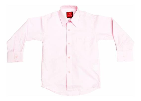 Camisa Manga Larga Oscar Rosa Pastel 1 2 3 Y 3x Con Moño
