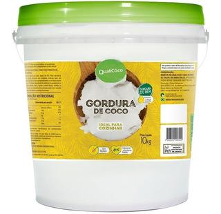 Gordura De Coco Balde 10kg - Qualicôco