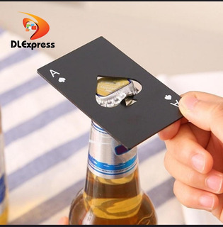 Mini Tarjeta De Póker Acero Para Abrir Botellas