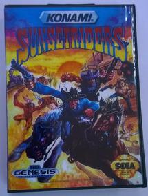 Sunset Riders - Mega Drive / Com Caixa E Carcaça Original