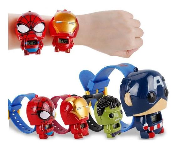 Relógio Infantil Personagens Vingadores Digital