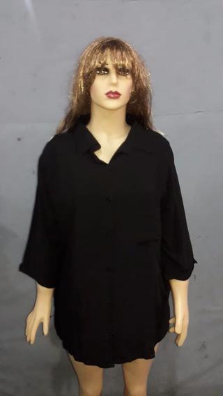 Hermosa Camisa De Fibrana Talles Especiales. Talle 2xl - 3xl