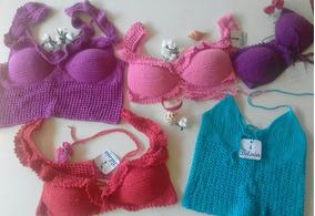Top Cropped Em Crochet