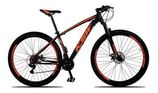Bicicleta Xlt Aro 29 Q21 21v Freio Disco Preto Laranja Ksw