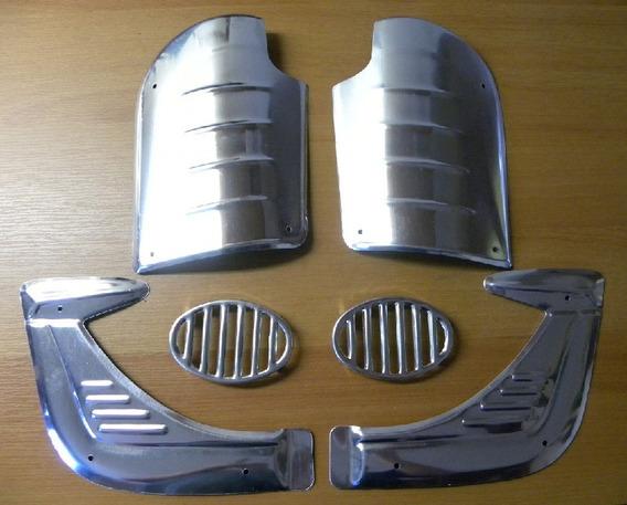 Kit Adorno Fusca Em Aço Aluminio 6 Peças