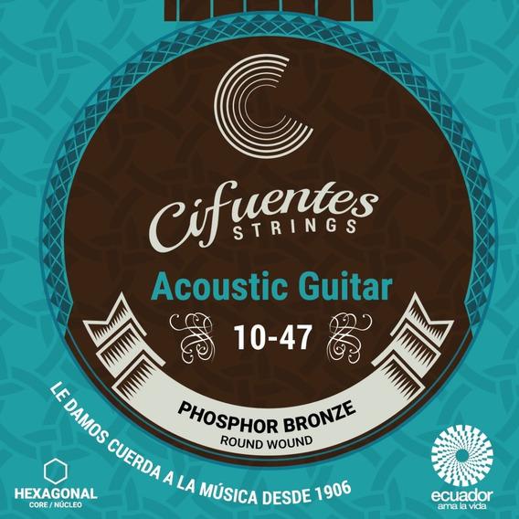 Cuerdas Guitarra Electroacústica 10-47 Cifuentes Strings