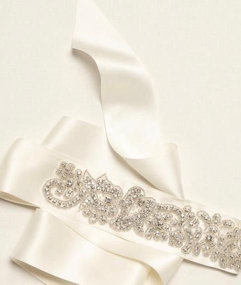 Sash De Brillantes Cinturón Accesorio Para Vestido De Novia