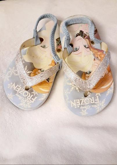 Ojotas Frozen T 9/10 Disney Impecable