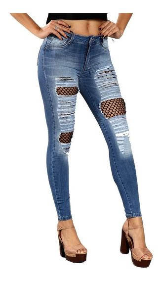Calça Jeans Sawary Tamanho 36 Rasgada Forma Pequena - 249428