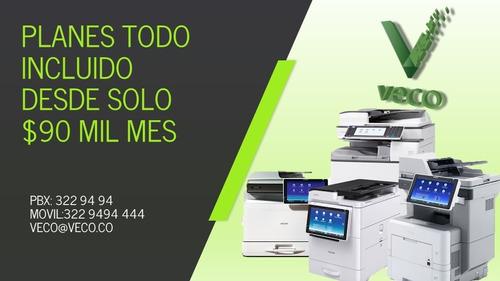 Imagen 1 de 10 de Alquiler Fotocopiadoras Multifuncionales Ricoh Medellin
