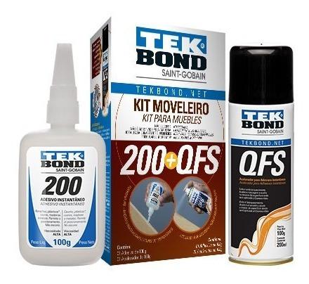 Kit Moveleiro Tekbond Bender Gel 100gr+ Qfs 50 Gr