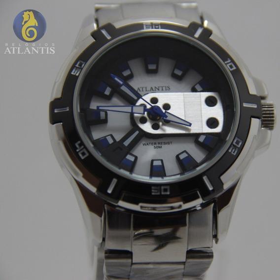 Relógio Quartz Atlantis Original Masculino Sport Luxo Açoino