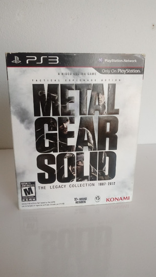 Metal Gear Solid The Legacy Collection Ps3 Mídia Física