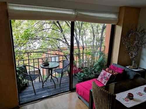Berlín: 2 Terrazas, Amueblado Con Diseño, 1 Rec, 1.5 Baños, Estudio, 1 Estac