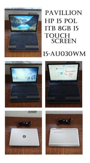 Notebook Dourado Hp Pavillion 15pol Touchscreen Processador I5 1tb De Hd 8gb De Ram Leitor De Cd