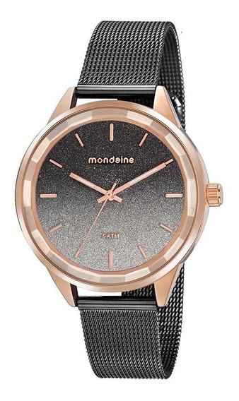 Relógio Feminino Mondaine Vidro Facetado Rosê 76735lpmvie3