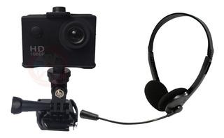 Combo Camara Webcam Hd Con Audifonos Y Microfono Computadora