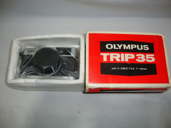Antiga Camera Olympus Trip 35 Fotografica Na Caixa Anos 70