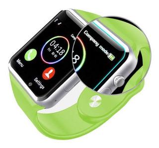 Reloj Inteligente Bluetooth Gsm Android Samsung iPhone Verde