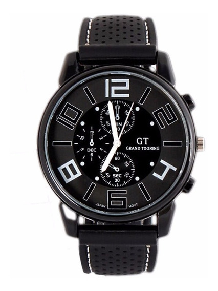 Relógio Masculino Analógico Números Grandes Marca Gt Barato
