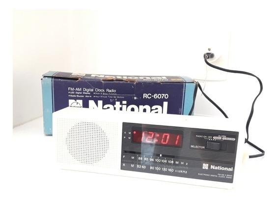 Rádio Relógio National Rc 6070 Anos 80 Igual Novo Fm Am