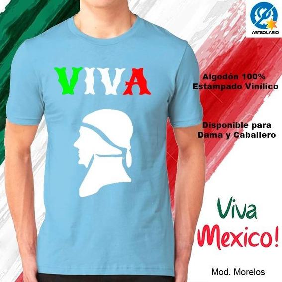 Playera Viva México 15 Septiembre Independencia Morelos