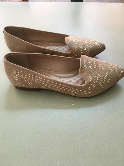 Zapatos Chatitas Gamuza Con Tachasbeira Rio Nuevas Sin Uso