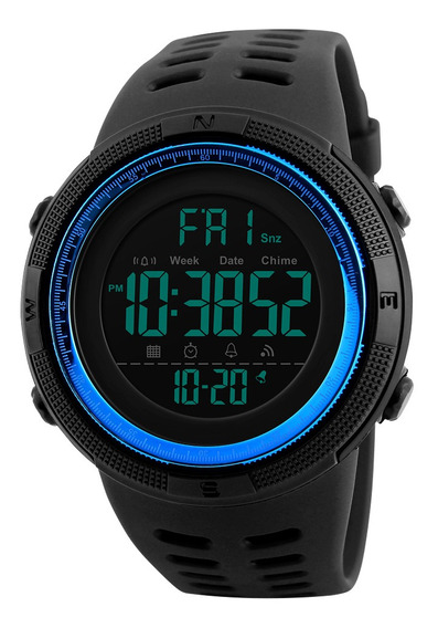 Reloj Deportivo Skmei Impermeable Con Doble Hora P/hombre